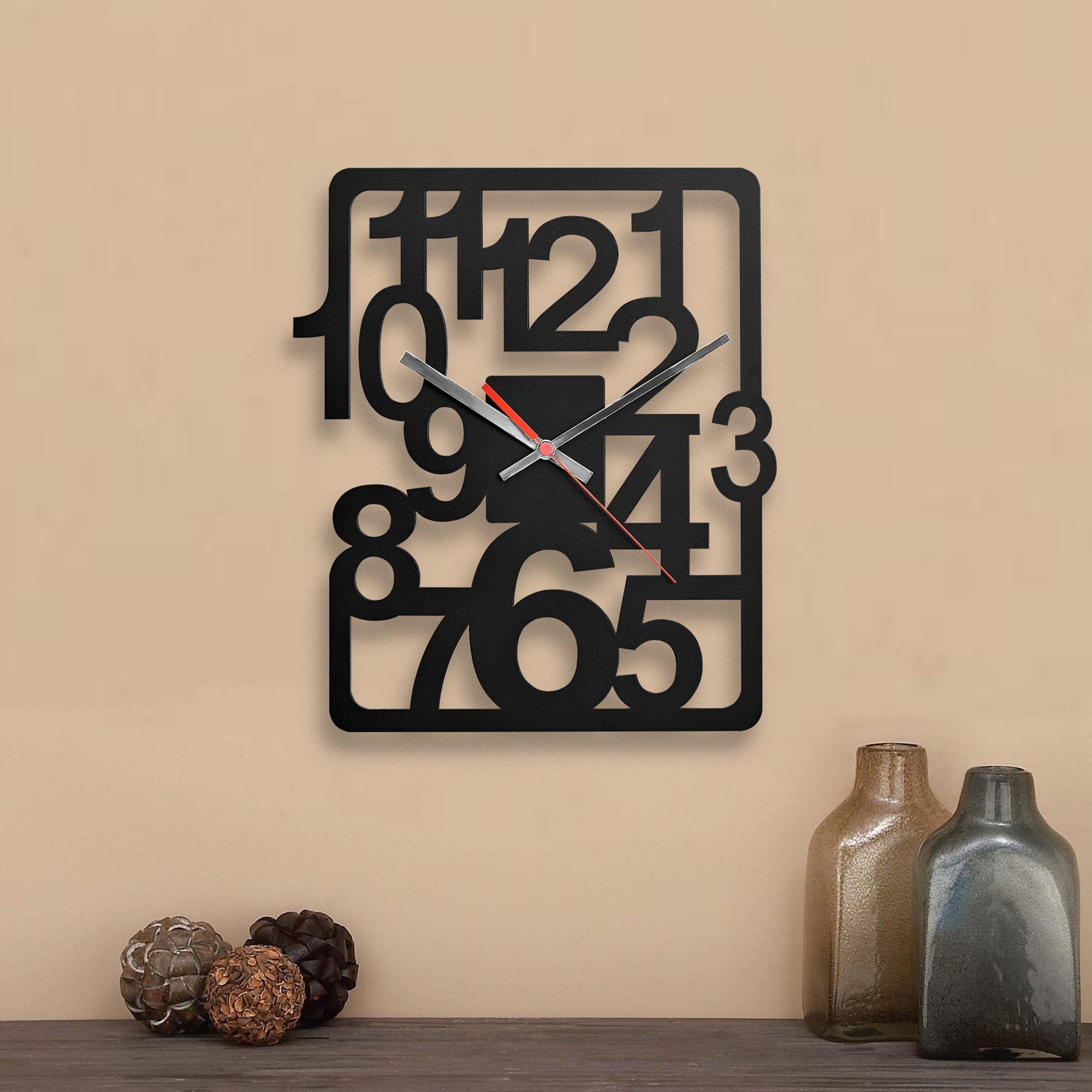 Industrial Wall Clock Kitchen Wall Clock Decorative Wall Clock Numbers Wall Clock Silent Wall In 2020 Clock Wall Decor Wood Wall Clock Office Wall Clock
