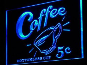 Adv Pro J148 B Coffee 5 Cents Vintage Reporduction Neon Sign