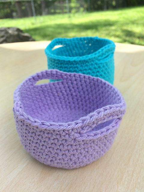 Free Patternthese Colourful Little Baskets Are Adorable Free
