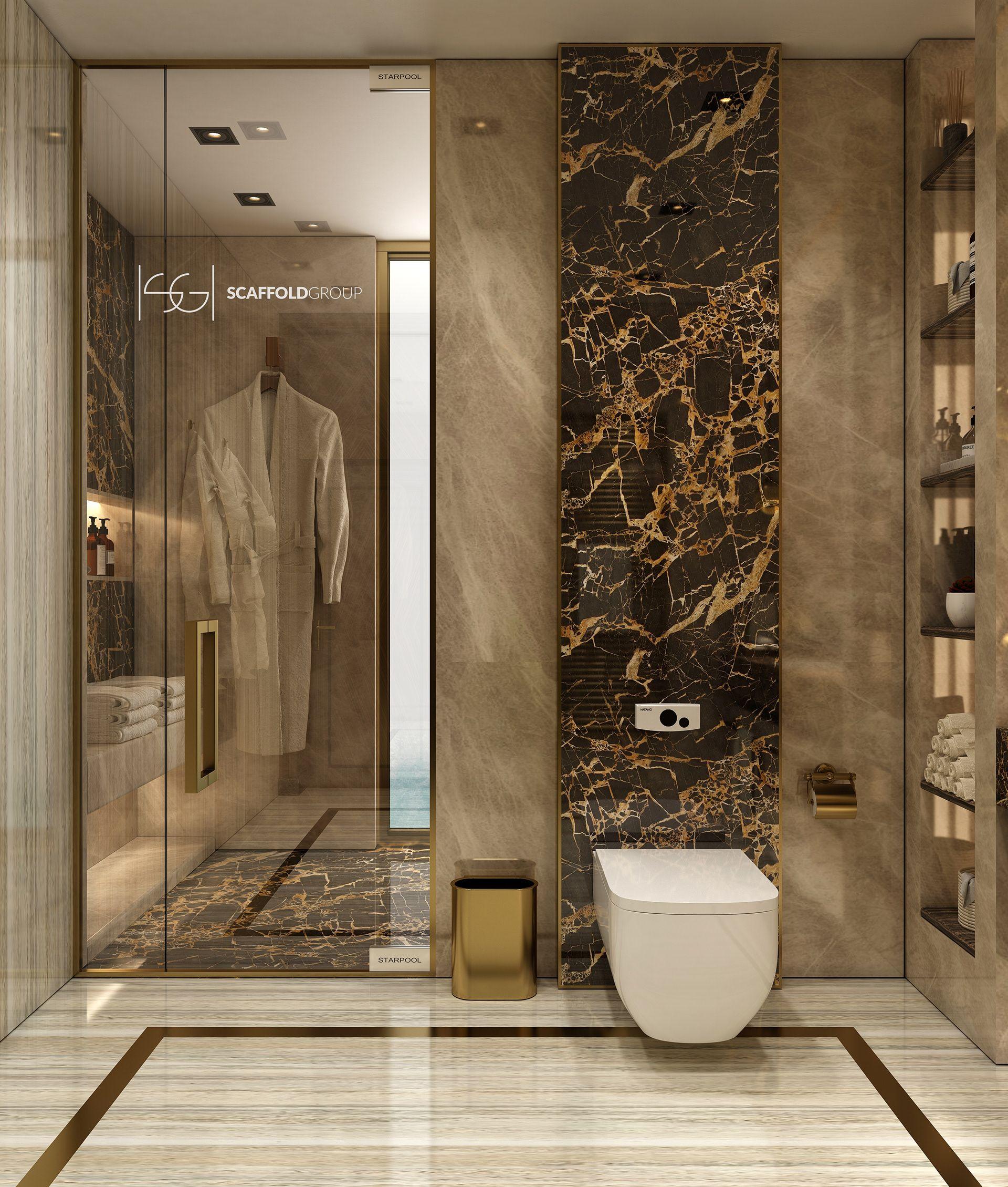 Luxurious Bathroom On Behance Modern Luxury Bathroom Bathroom Interior Design Washroom Design