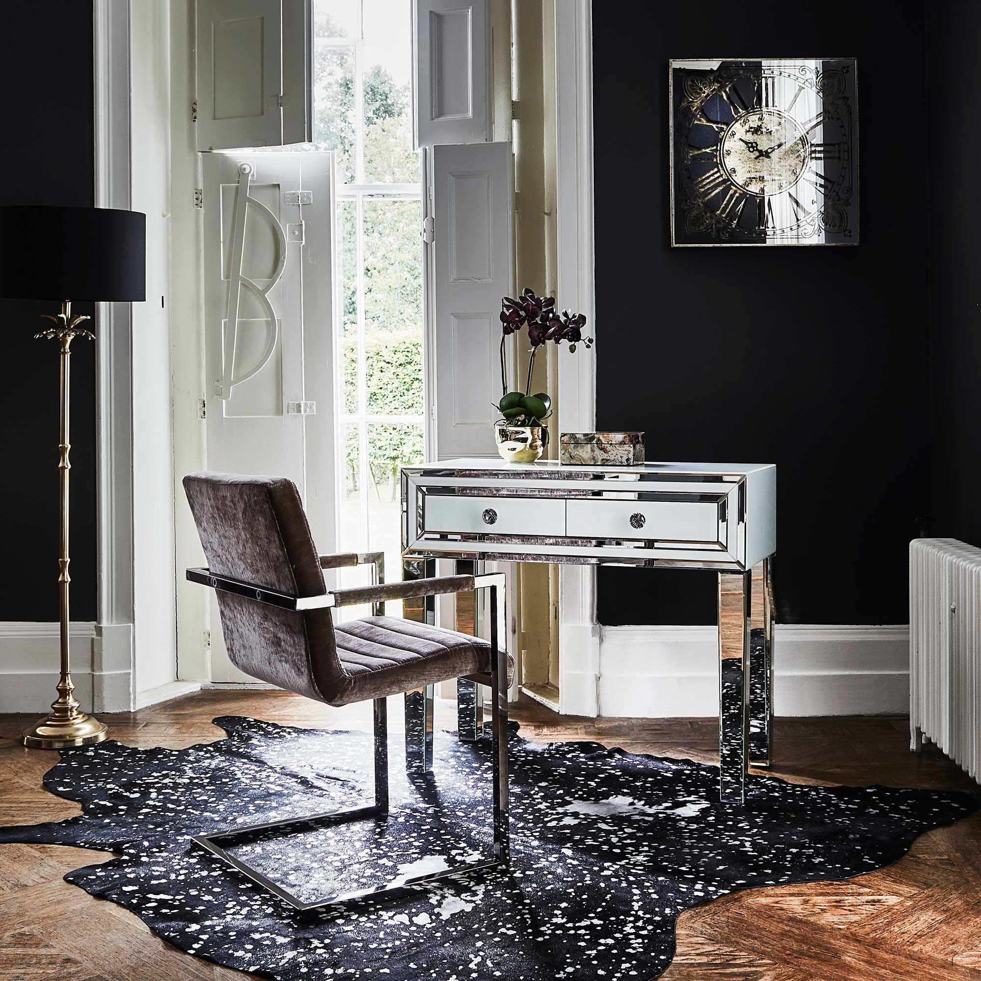 Titus Velvet Upholstered Dining Chair Brown  Dining Chairs Beauteous Cushioned Dining Room Chairs Decorating Design