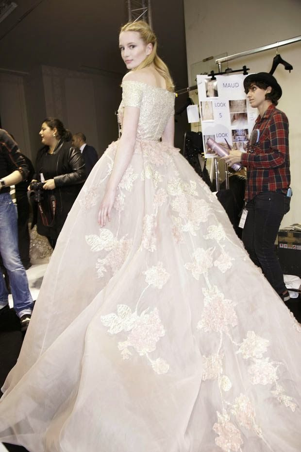Cool Chic Style Fashion: Haute Couture | Backstage at Elie Saab Spring 2014 Couture