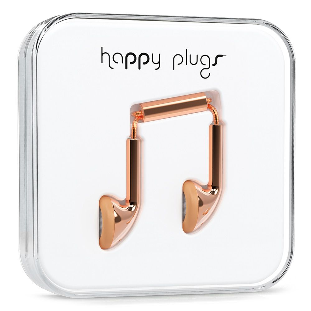 Earbud Rose Gold - Happy Plugs - Designed in Sweden - What Color Are You Today?