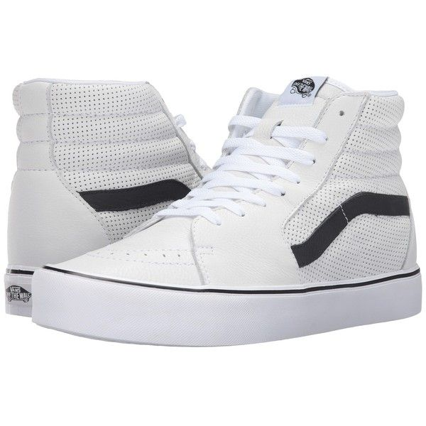 aa4c17564e Vans Sk8-Hi Lite ((Perf) White) Men s Skate Shoes ( 85) ❤ liked on Polyvore  featuring men s fashion