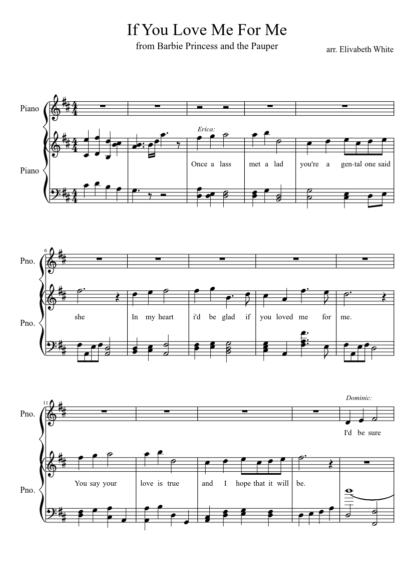 If You Love Me For Me Sheet Music For Piano Download Free In Pdf Or Midi Musescore Com In 2020 Love Memes Love You My Love