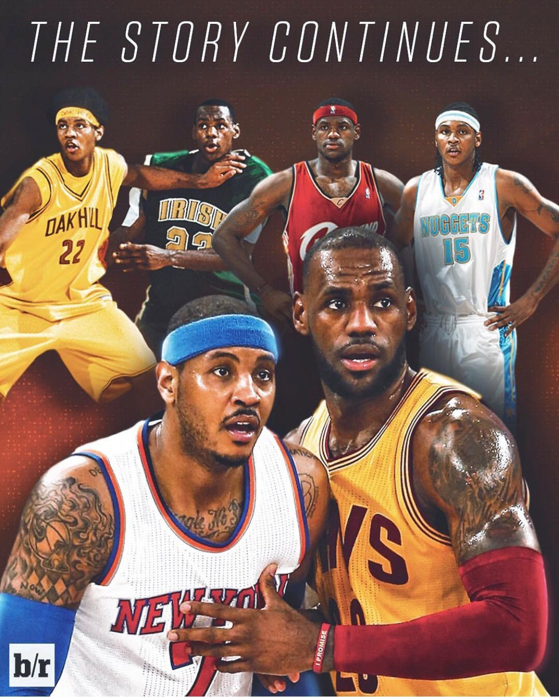 507386f79 Basketball T Shirt Design Editor. Over the years between two greats. Carmelo  Anthony and LeBron James