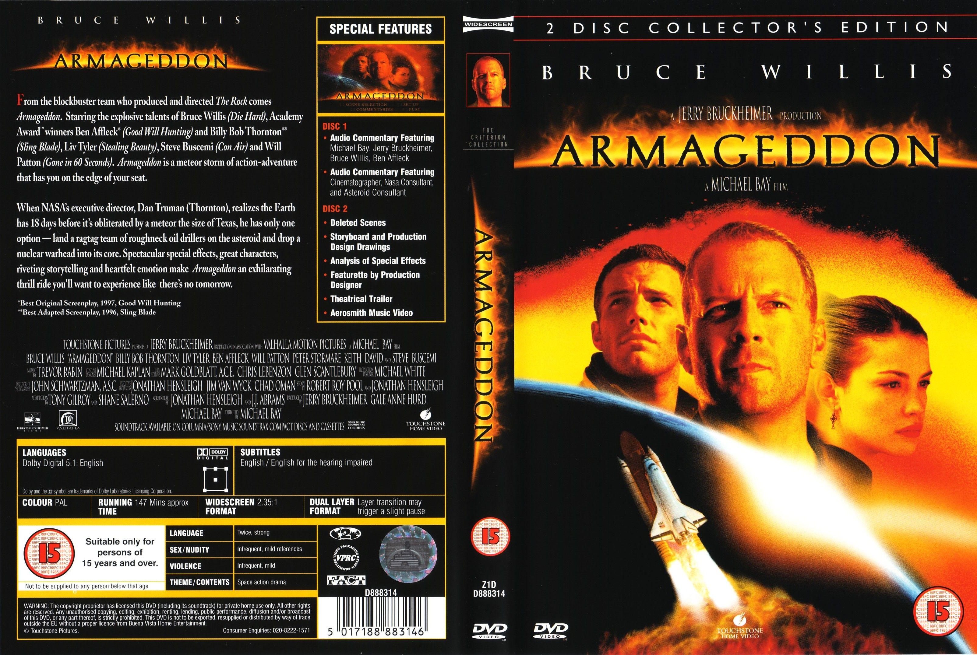 Armageddon Armageddon Dvd Covers Bruce Willis