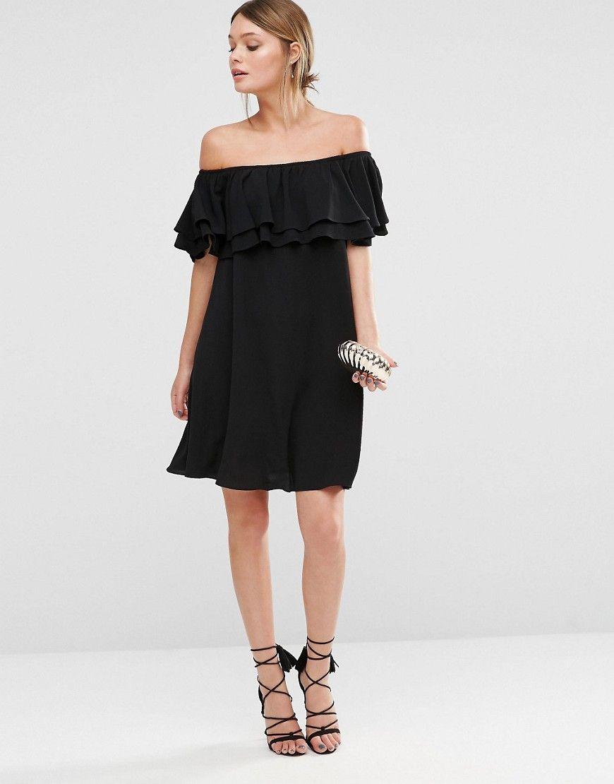 New look bardot frill mini dress bardot mini dresses and minis
