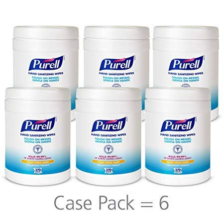 Purell Hand Sanitizing Wipes Fresh Citrus Scent 270 Count