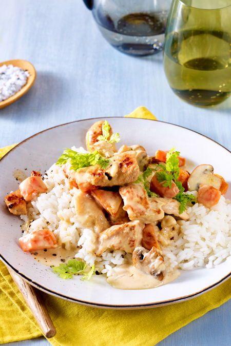 Karotten-Pilz-Pfanne mit Putengeschnetzeltem Rezept | LECKER