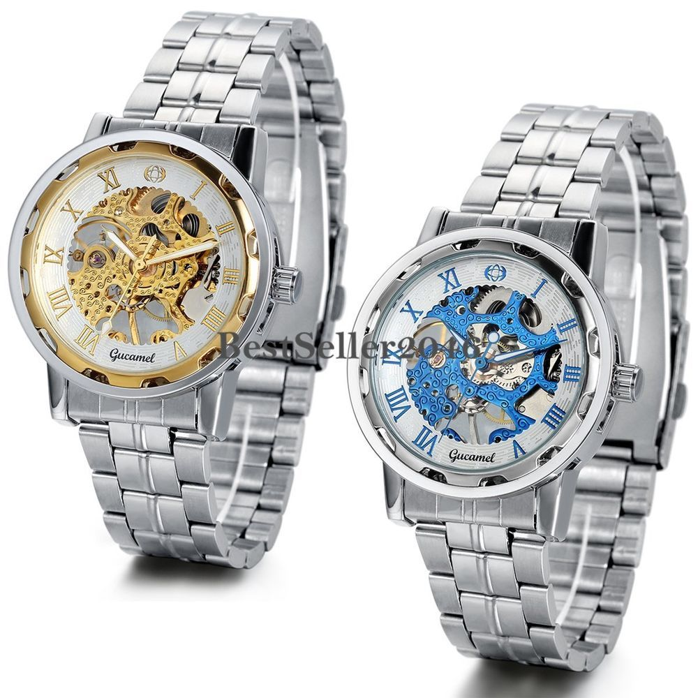 Skeleton Dial Stainless Steel Strap HandWind Mechanical