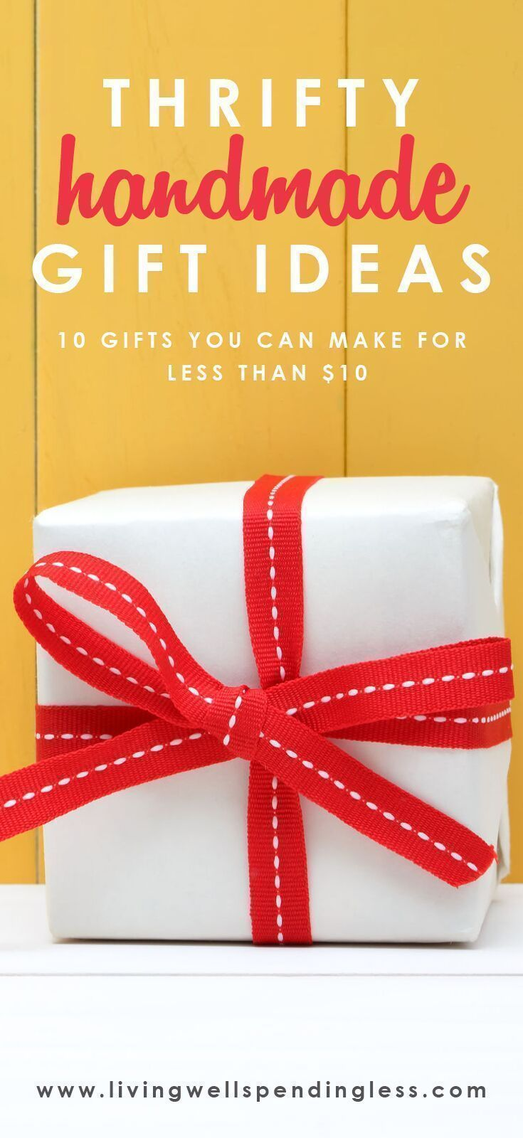 10 Gifts You Can Make for $10 or Less   Easy diy gifts ...