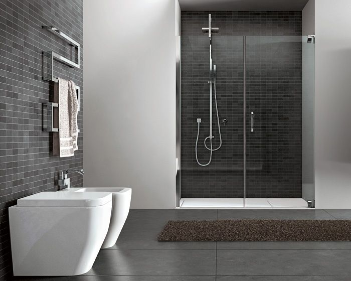 Shower in a cubby. Bagno Pinterest Dream bathrooms