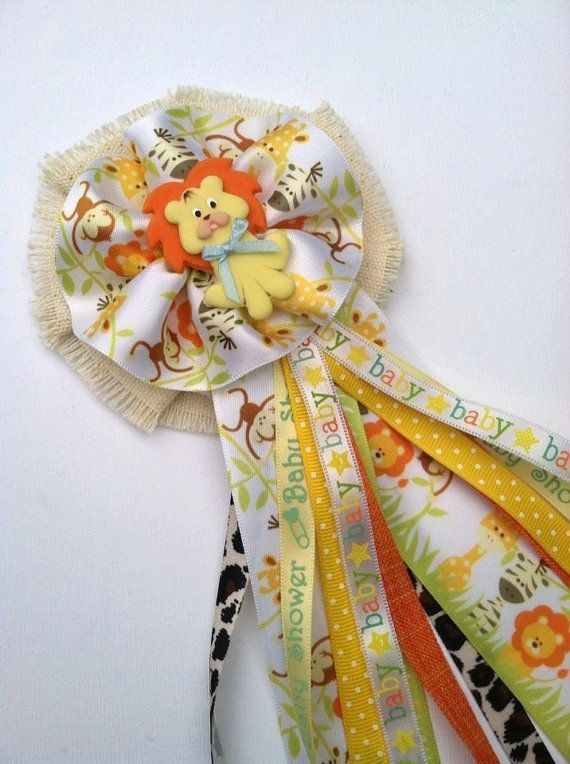 Safari Jungle Theme Mommy To Be Corsage By Alittlesweetbowtique
