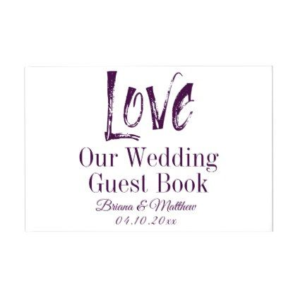 Purple Wedding Guest Book Watercolor Typography Watercolor - guest book template