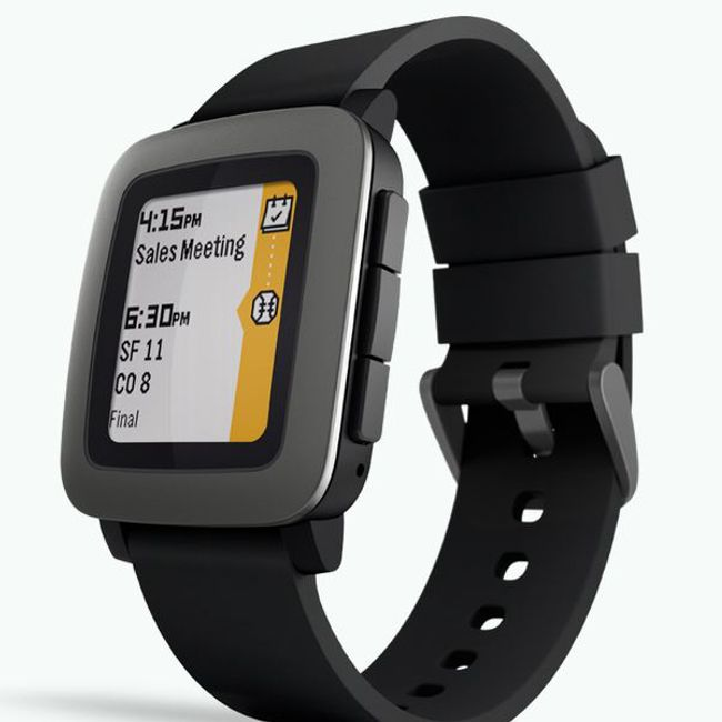 *Pebble Time Smartwatch* colour epaper display in black