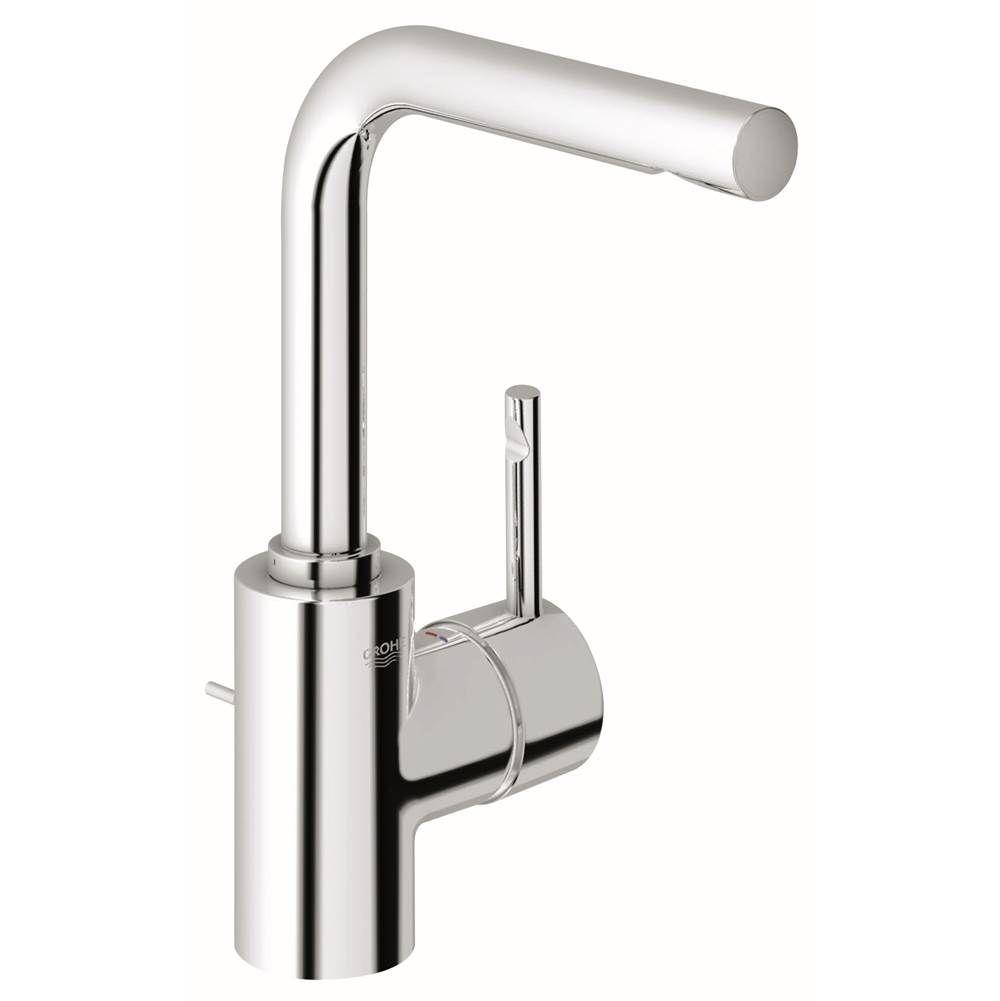 Monique S Bath Showroom Grohe 32137000 Essence Single Handle Hole Low Arc Bathroom Faucet