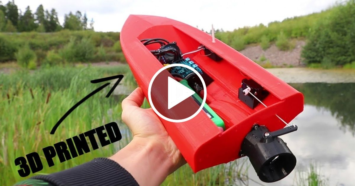 3D Printed RC Boat with JET PROPULSION Rc boats, 3d