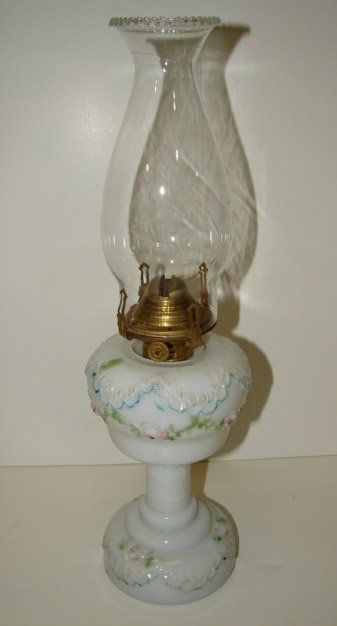 386 Versailles Milk Glass Lamp Nov 15 2008 Jos C O Neal Inc Auctioneers Appraisers In De Milk Glass Lamp Milk Glass Collection Oil Lamps