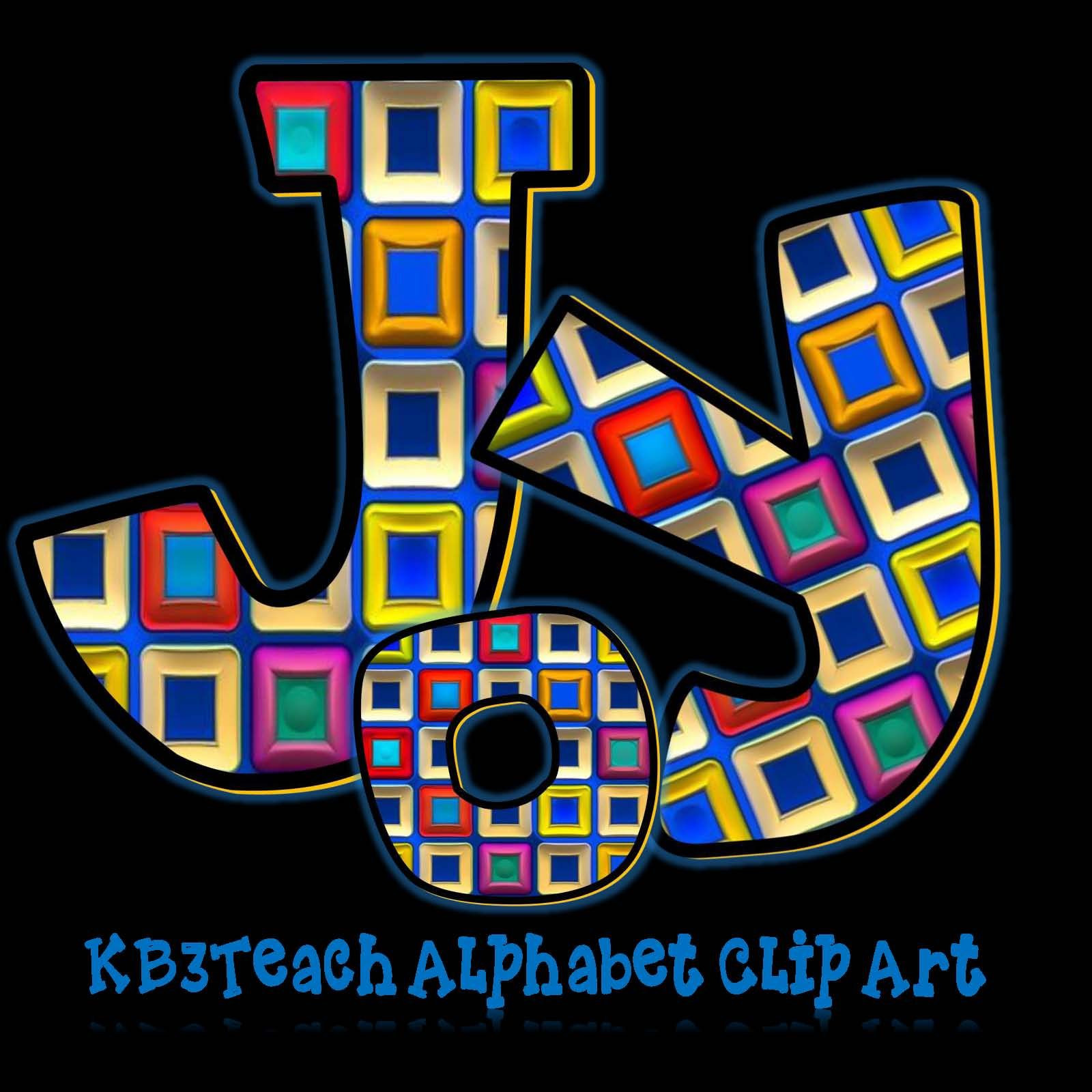 Alphabet Letters Clipart Abstract Designs Uppercase