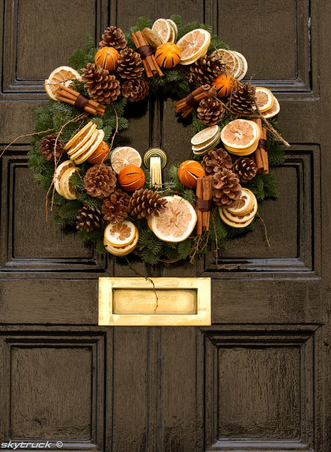 Dried Fruit Wreath Idee Deco Noel