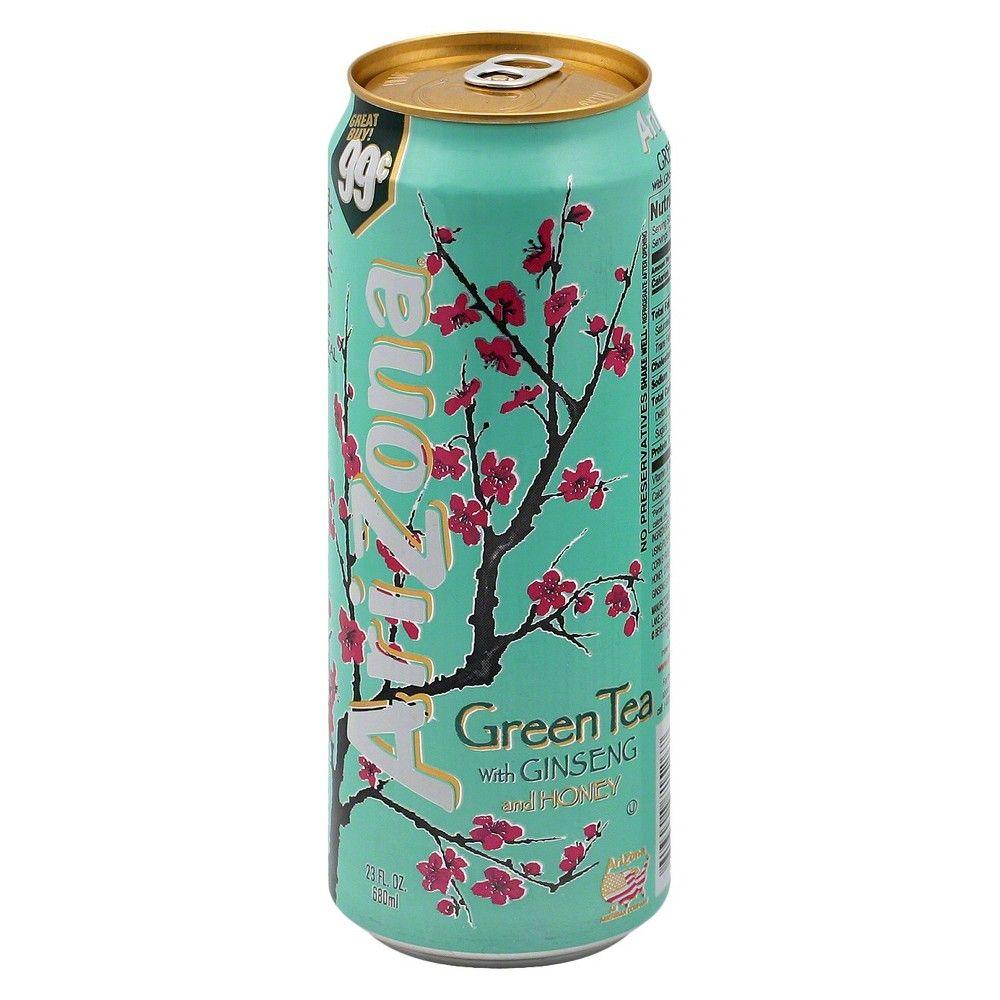 Arizona Green Tea With Ginseng And Honey 23 Fl Oz Can Arizona Green Teas Green Tea Drinks Tea