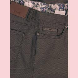 5-Pocket Hose in Minimalstruktur, Cadiz, Straight Fit von Brax in Braun für Herren BraxBrax