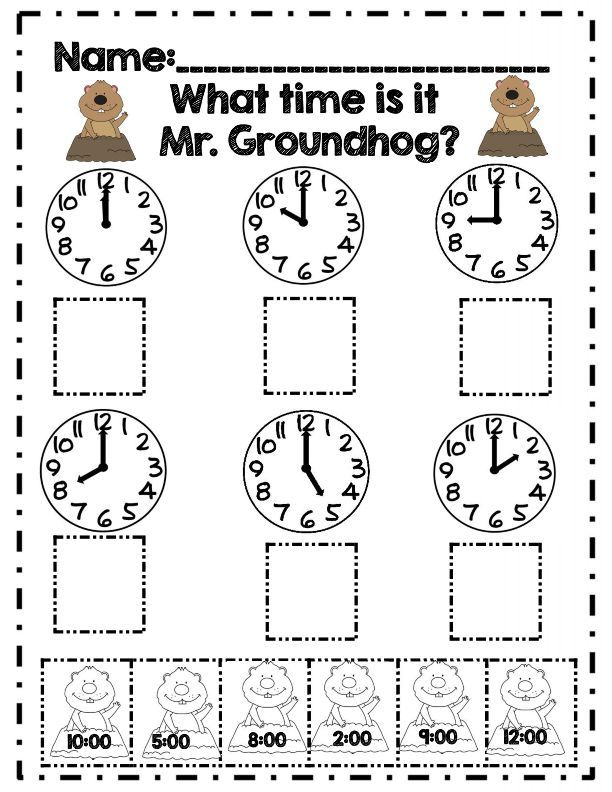 First Grade Groundhog Day Math Adventures *Common Core