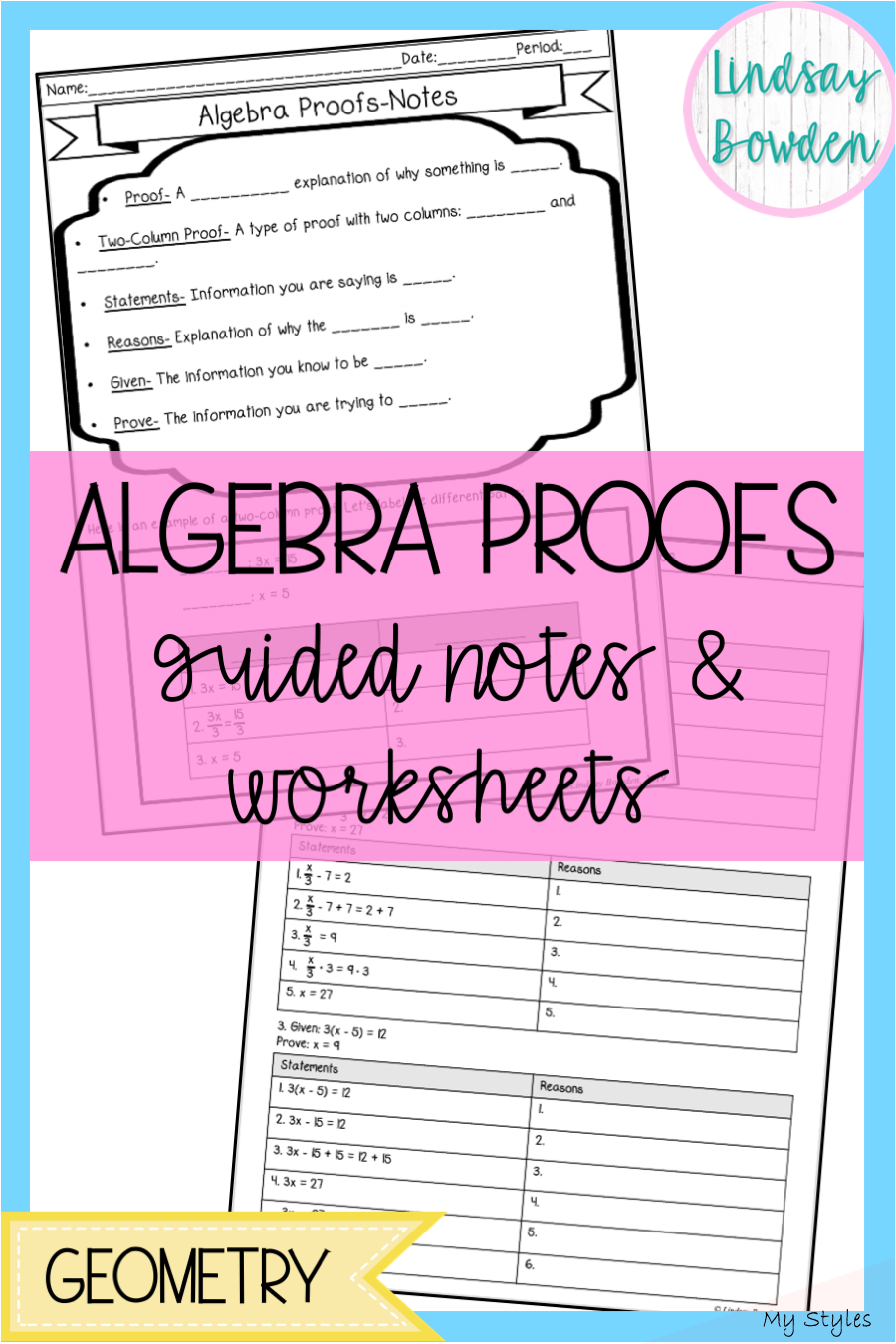 Aug 20, 2019 Algebra Proofs lesson! This is a great