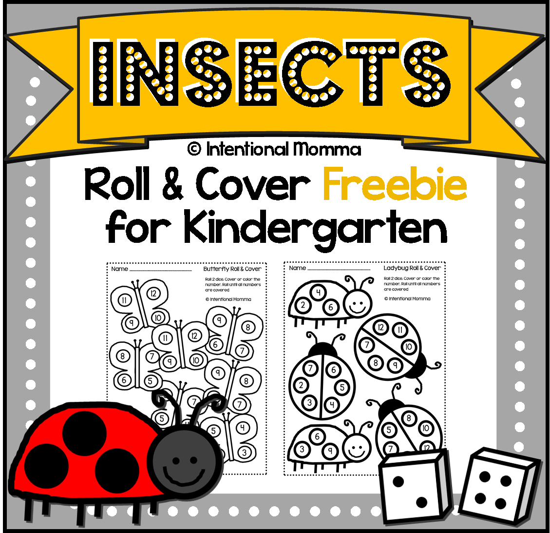 worksheet Bug Worksheets For Kindergarten free printable kindergarten dice worksheets worksheets