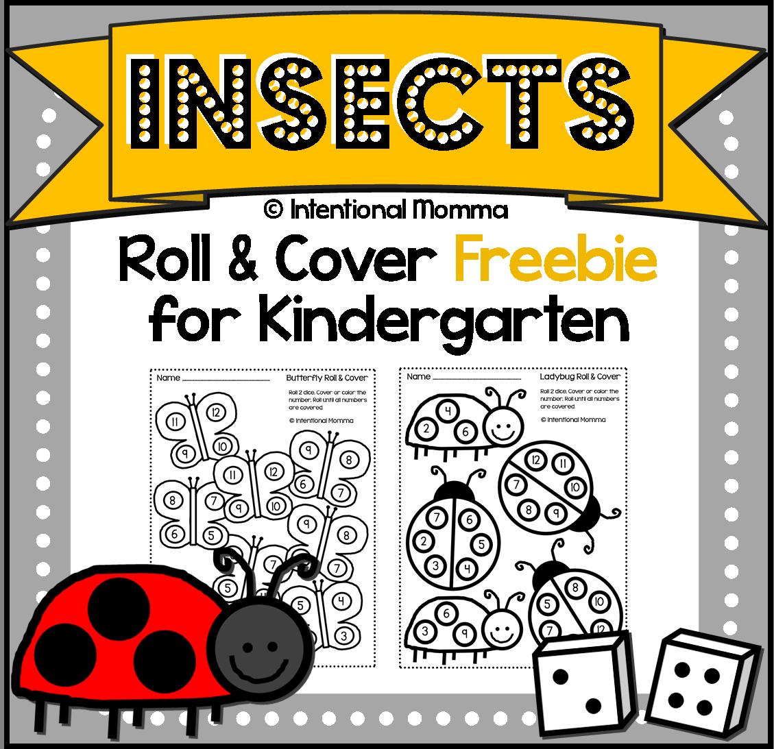 Free Printable Kindergarten Dice Worksheets | Pinterest | Worksheets ...