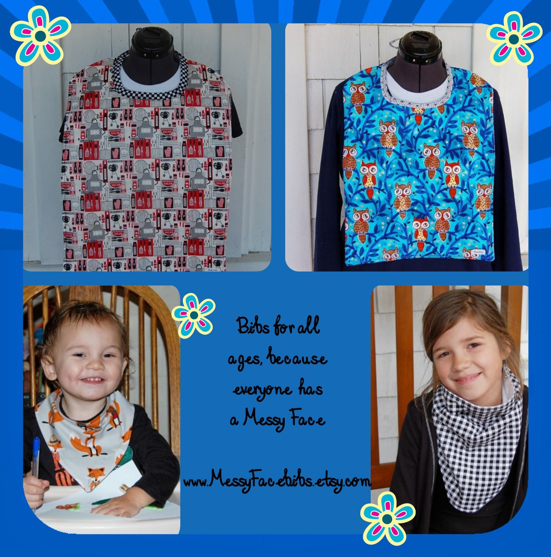 handmade bibs for adults to babies $7 00 $17 50 special needs