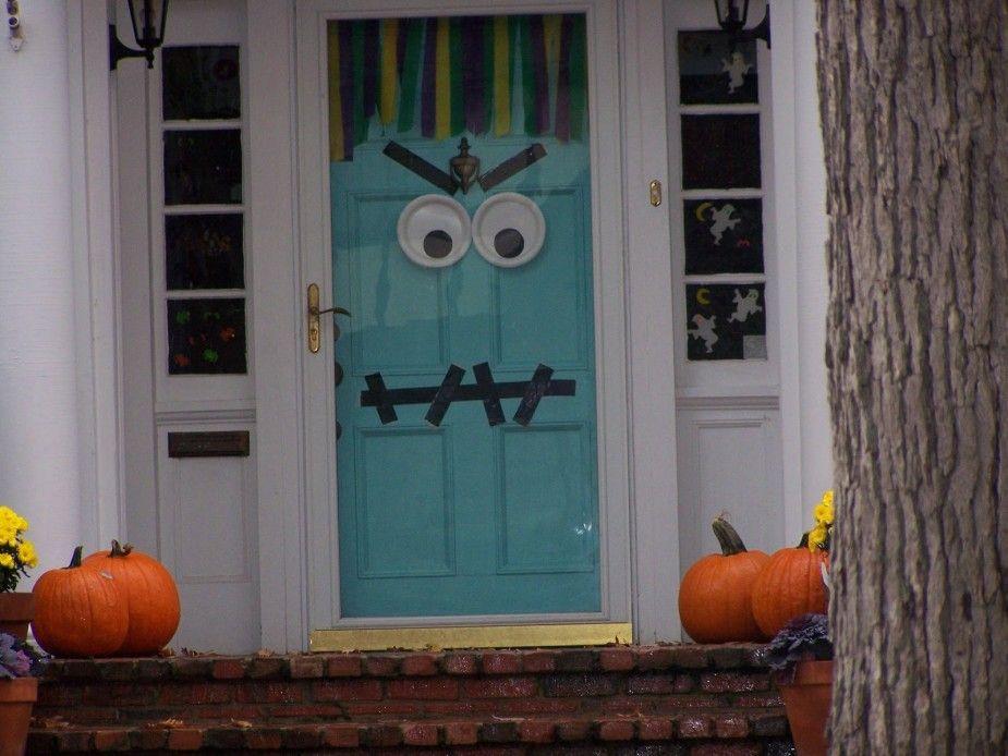 frightening front door Autumn Pinterest Front doors - office halloween decorating ideas