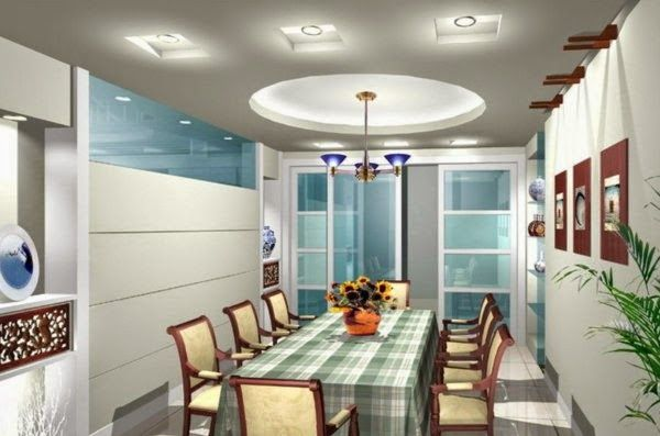 Superbe LED Ceiling Light Fixtures: Dining Room With Interesting Ceiling Lights
