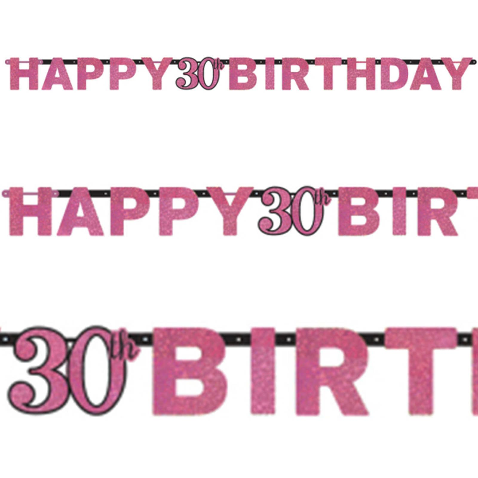 3.25 GBP - 2.13M Pink Sparkle Celebration 30Th Birthday Party Letter ...