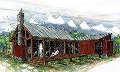 Cabin Ranch Southern House Plan