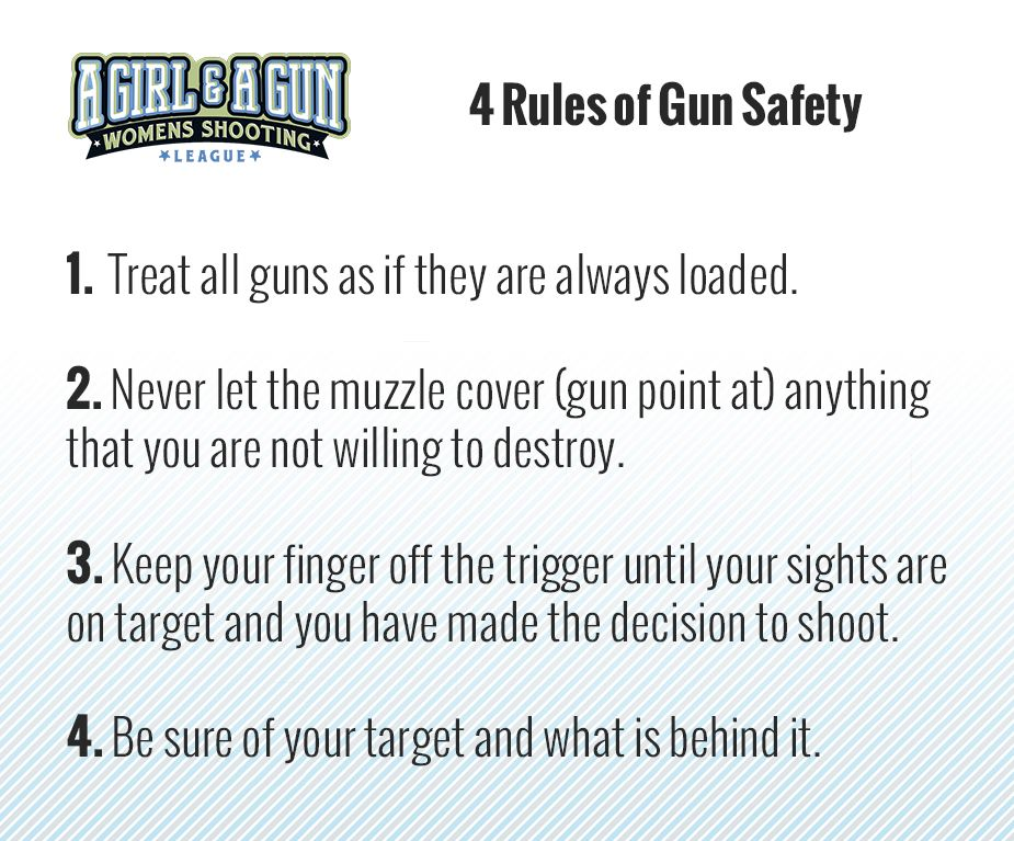 AGirlandAGun 4 Rules of GunSafety in 2020 Guns safety