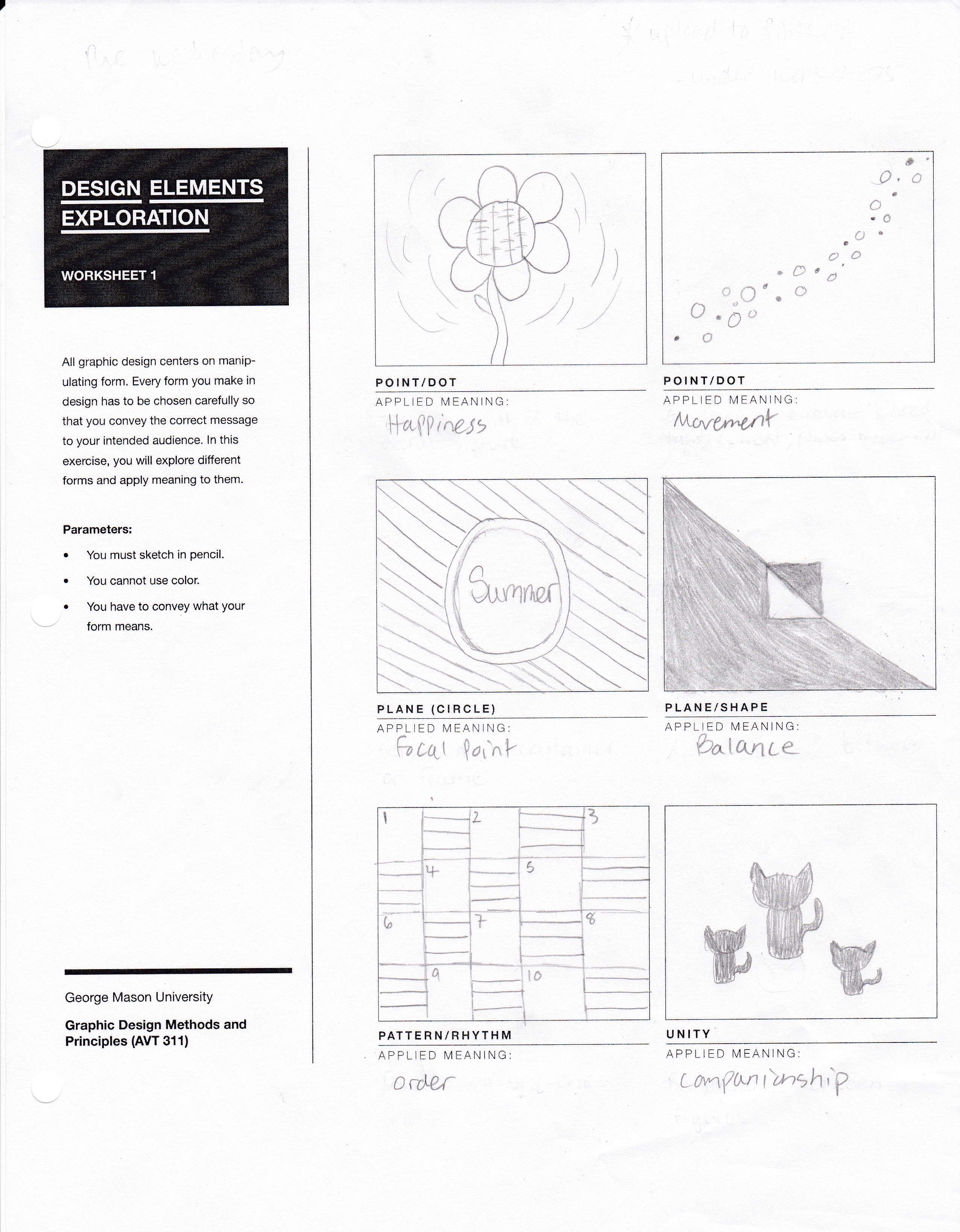 Design Elements Worksheet For Avt 311