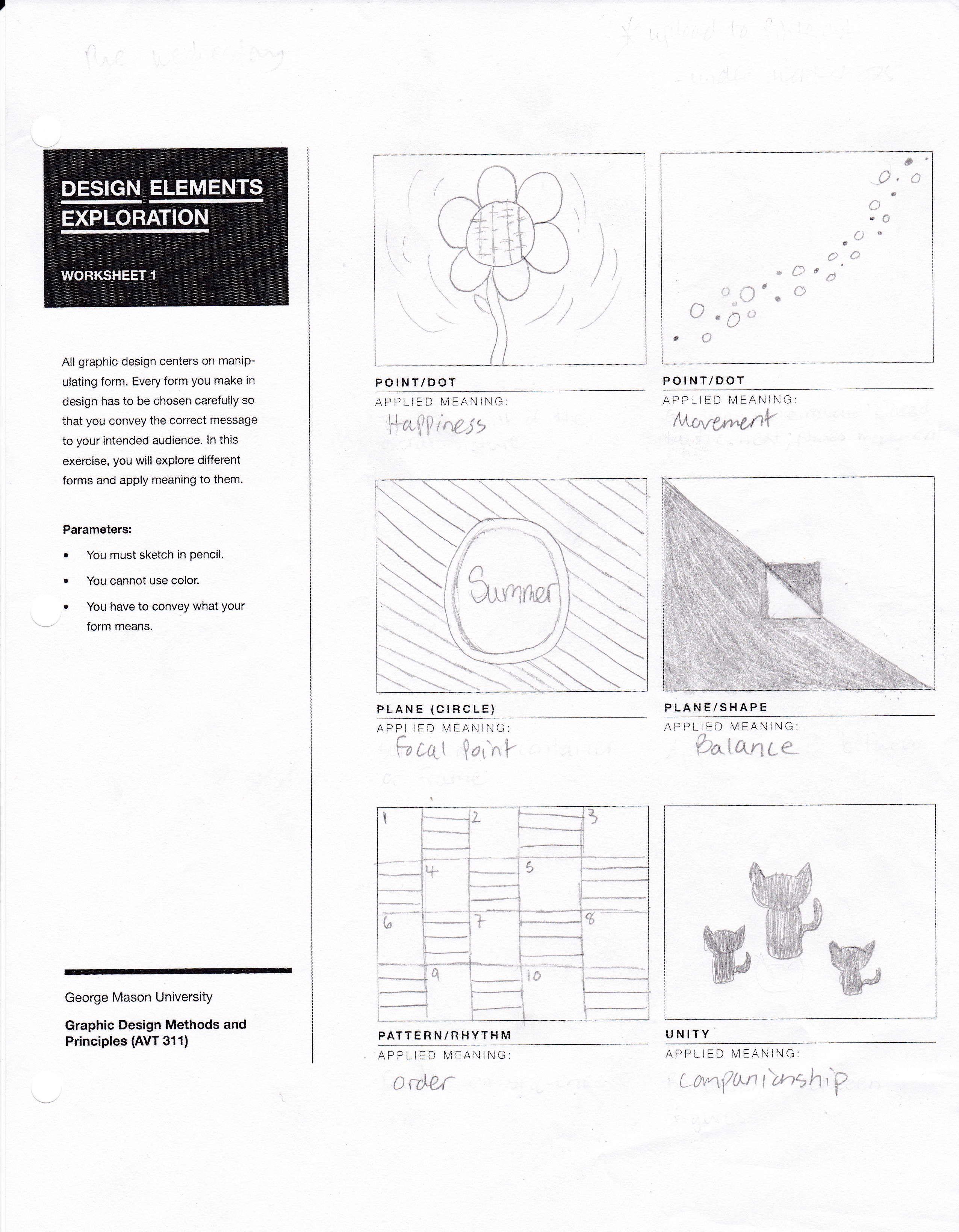 Design Elements Worksheet For Avt 311