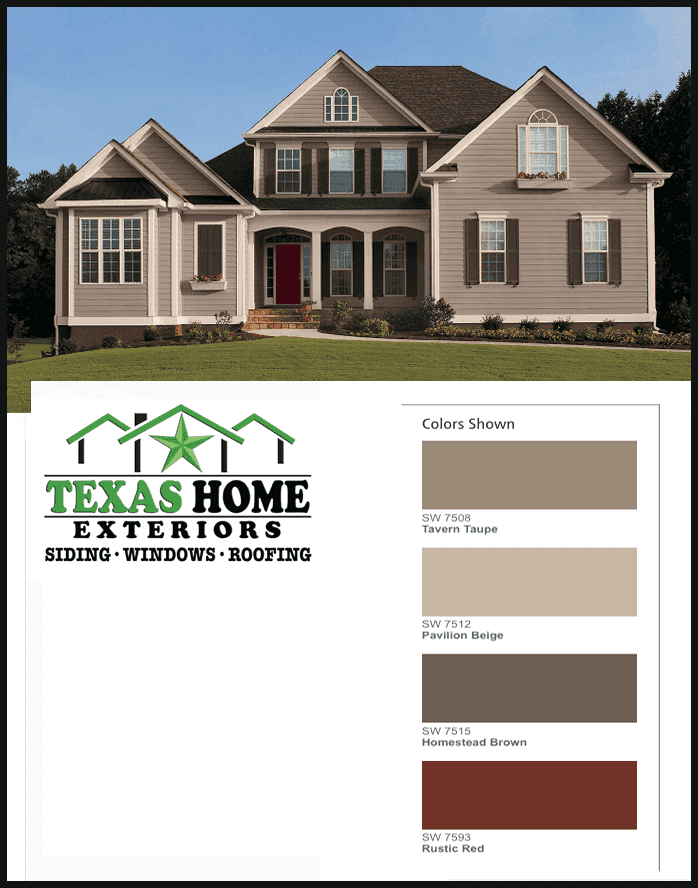 Warm Neutral Exterior Paint Color Taupe Beigh Brown Red Compressor Exterior House Paint Color Combinations Exterior Paint Colors For House House Paint Exterior