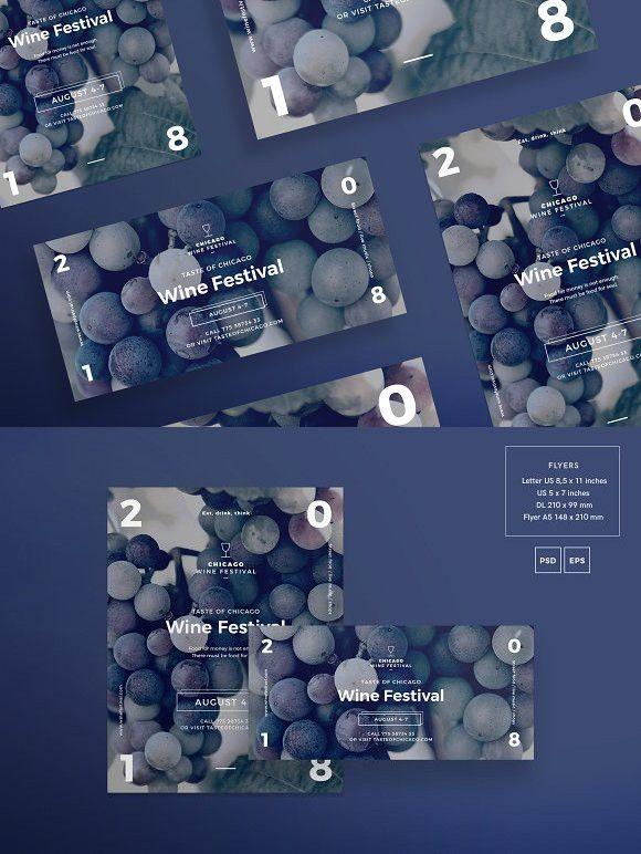 Flyers | Wine Festival. Flyer Templates