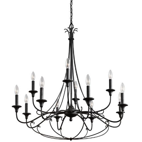 Kichler Lighting 43455DBK Basel 12LT 2-Tier Chandelier, Distressed Black Finish Kichler Lighting http://www.amazon.com/dp/B00HD6UOJG/ref=cm_sw_r_pi_dp_FMnuwb088KJ10