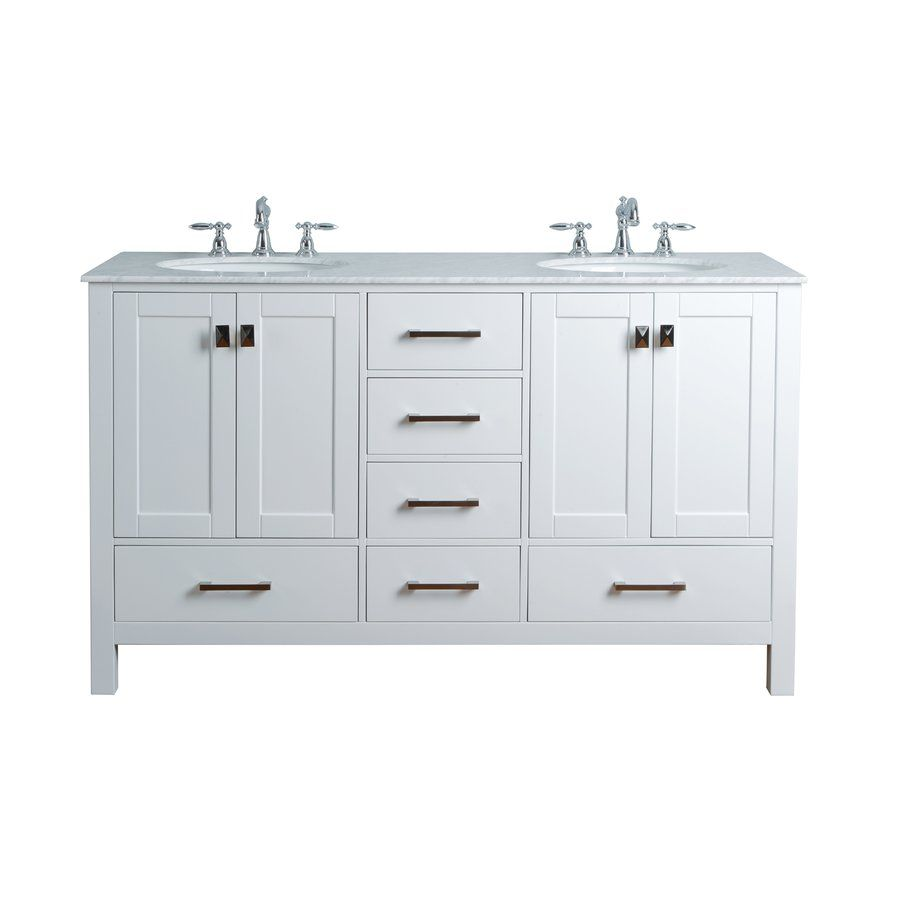 Double sink white bathroom vanities ankney