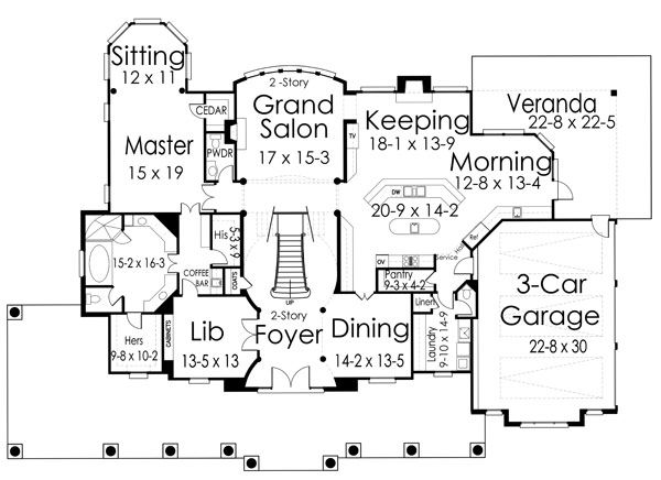 1st Floor Plan image of Broadstone Lodge House Plan | House Plans ...