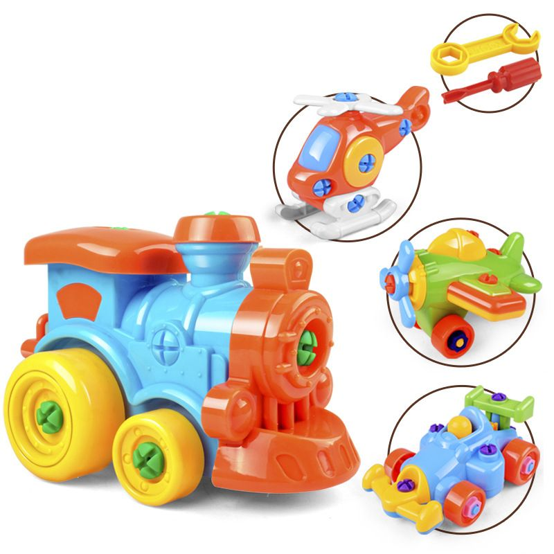 DIY Screw Nut Group Installed 3d Puzzle Disassembly Car Kids Early Education Toy