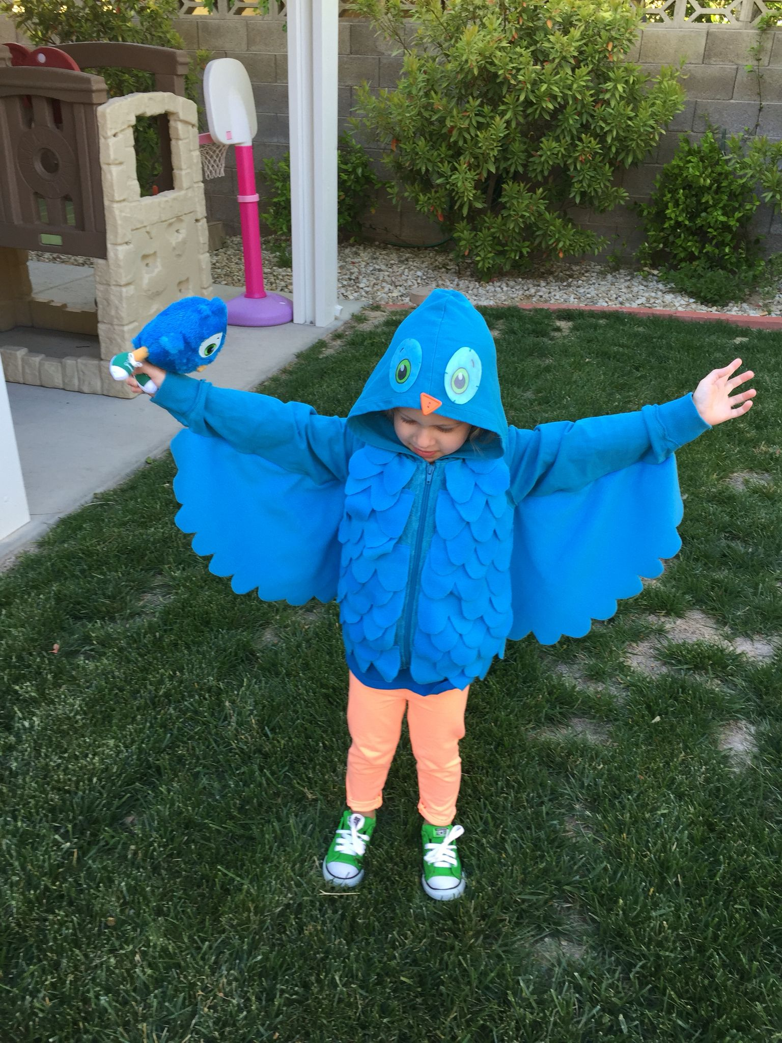 Kids Wise Owl Girl  Fancy Dress Book Week Animal Bird Outfit Costume