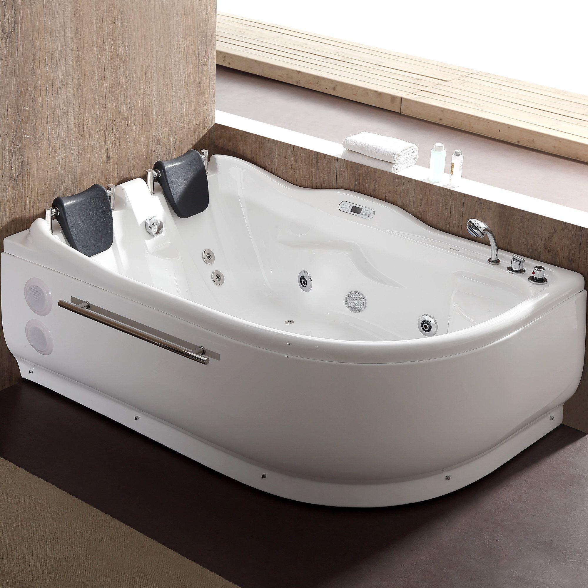 70 9 X 47 25 Corner Whirlpool Bathtub Whirlpool Bathtub