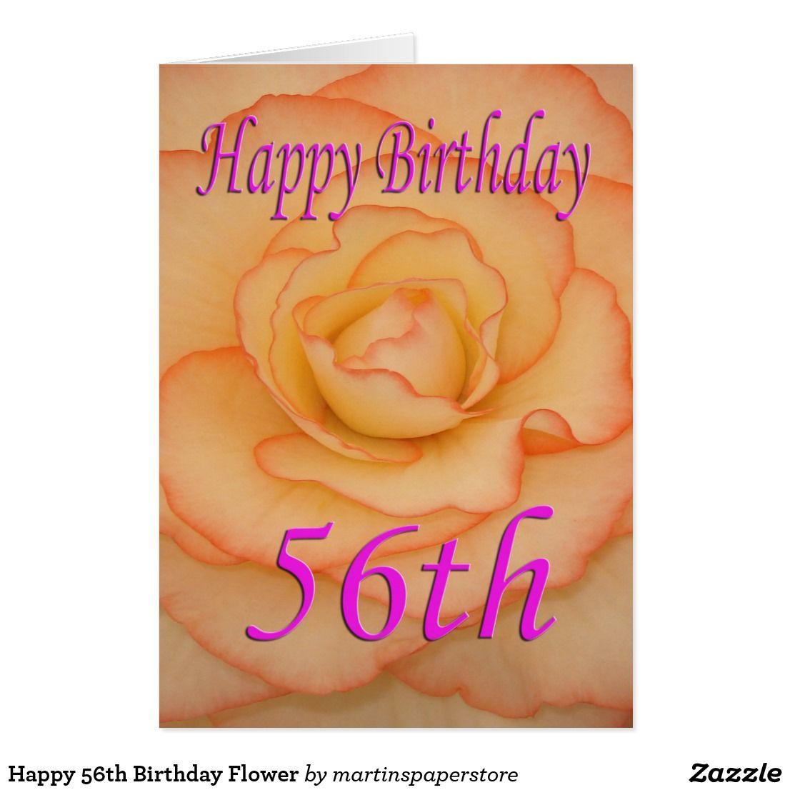 Happy 56th Birthday Flower Card