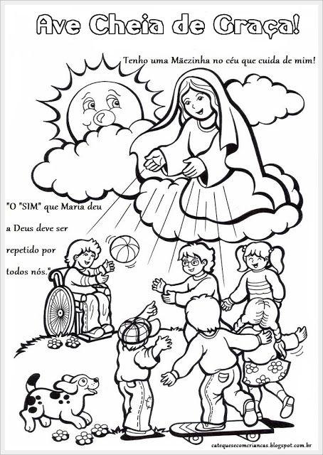 Catequese com Crianças: Atividades para Catequese - Maria: Nossa ...