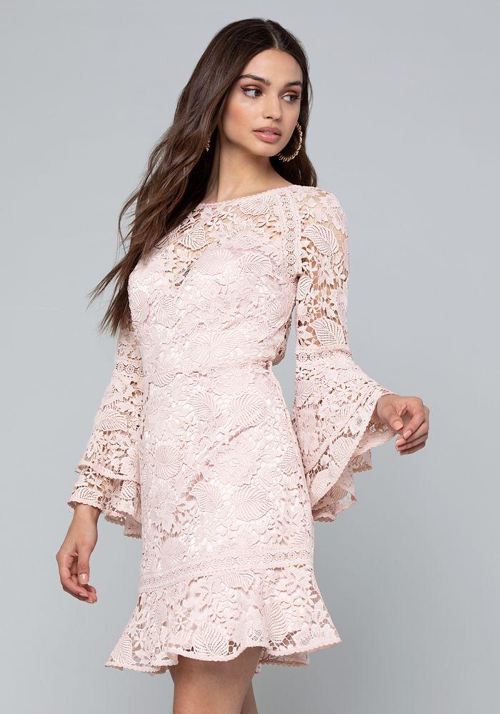 f58f29a8faa Bebe Women's Lace Open Back Dress, Size 10 | Products | Dresses ...